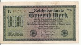 ALLEMAGNE 1000 MARK 1922 VF+ P 76 - [ 3] 1918-1933 : Repubblica  Di Weimar