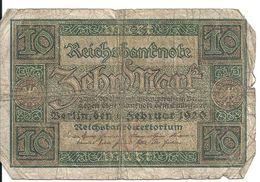 ALLEMAGNE 10 MARK 1920 VG P 67 - 10 Mark