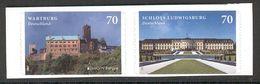 GERMANY 2017 EUROPA Wartburg, Ludwigsburg Castles; Scott Catalogue No(s). 2973-2974 MNH Self-adhesive Pair (Lot 3) - 2017