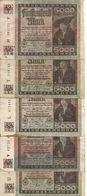 ALLEMAGNE 5000 MARK 1922 VF P 81 ( 5 Billets ) - 5000 Mark