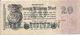 ALLEMAGNE 20 MILLIONEN MARK 1923 VF P 97 - [ 3] 1918-1933 : República De Weimar
