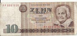 ALLEMAGNE 10 MARK 1971 VF P 28 - [ 6] 1949-1990: DDR - Duitse Dem. Rep.