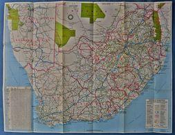 Kleine Landkarte Republik Südafrika  -  Ca. 58 X 44 Cm  - 1986  -  Maßstab 1 : 3.300.000 - Mappamondo
