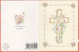 Biglietto Augurale Per La Pasqua Con Stampa Di Una Croce Con Fiori - From An Original Painting By Sue Topping - Ling's C - Ostern