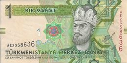 TURKMENISTAN 1 MANAT 2014 UNC P 29 B - Turkménistan