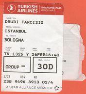 TURKISH AIRLINES - 2020 - BOARDING PASS - BİNİŞ KARTI - TK 1325 - IST-BLQ - Istanbul-Bologna - Vliegtickets