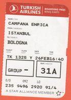 TURKISH AIRLINES - 2020 - BOARDING PASS - BİNİŞ KARTI - TK 1325 - IST-BLQ - Istanbul-Bologna - Billets D'embarquement D'avion