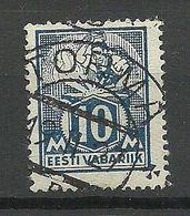 Estland Estonia 1927 O TORMA Auf Michel 39 A - Estland