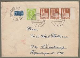 Bund: Brief Mit Mi-Nr. 123 Posthorn, U. Bizone Dreierstreifen Mi.-Nr. 76 Frauenkirche !    X - BRD