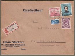 Bund: Brief Mit Mi-Nr. 133 Posthorn, 152 Helgoland U. 155 Carl Schurz !    X - Gebraucht