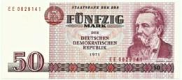 Germany - Democratic Republic - 50 Mark - 1971 ( 1986 ) - Pick: 30.b - Unc. - Serie EE - 7 Digit Narrow Serial # - [ 6] 1949-1990 : RDA - Rep. Dem. Tedesca