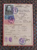 Lyon (Carte D'identité De Cotoyen Français) Le 25 09 1912. Rhône France - Maps