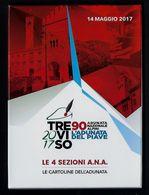 """2017 ITALIA """"ADUNATA NAZIONALE ALPINI, TREVISO 2017, L'ADUNATA DEL PIAVE"""" COFANETTO ANNULLO 14.05.2017 (TREVISO) - Italie"""