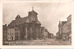 MALINES - Marché Au Bétail : Eglise S.S. Pierre Et Paul - MECHELEN - Veemarkt : St Pieters En Paulus Kerk - Malines