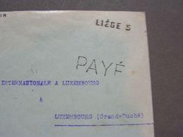 Liege Cv. Nach Luxemburg , Zensur ? 1918 - Belgien