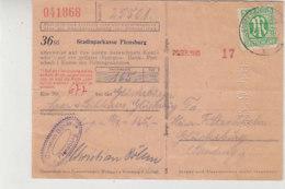 Bankbeleg Mit 3 Aus GLÜCKSBURG 29.9.45 - American/British Zone