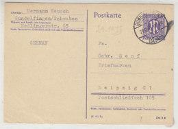 P 903 Aus GUNDELFINGEN 29.10.45 Nach Leipzig - Zone Anglo-Américaine