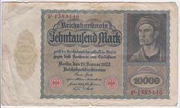 Germany P 71 - 10.000 Mark 19.1.1922 - Fine - 10000 Mark