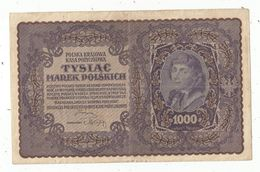 Billet, POLOGNE , 1919 ,  1000 Marek Polskich ,tyslac, 2 Scans , Frais Fr 1.75 E - Pologne