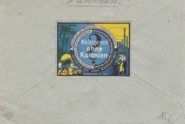GG: Brief Terespol Nach Schwangau, Rücks. Vignette Kolonien - Besetzungen 1938-45