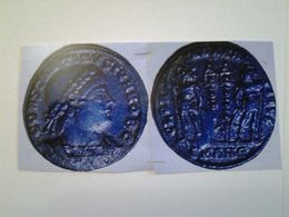 Nummus Constantin II Tête A Droite Rv / Deux Enseignes Entre Deux Soldats - 8. El Bajo Imperio Romano (363 / 476)