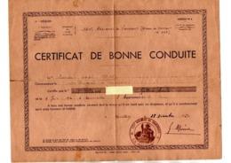 MILITARIA . CERTIFICAT DE BONNE CONDUITE . 121e RÉGIMENT DE TRANSPORT À MONTLÉRY - Réf. N°10330 - - Militaria