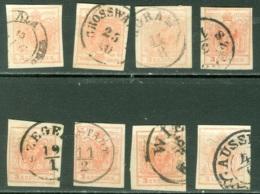 Autriche  Lot  De N° 3  Ob   Variété,couleur , Obli  Dont Ala , Grosswardein  , Agram , Aussig - Oblitérés