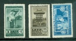 Roumanie   Yvert  468/470  Ou  Michel  465/467   *   TB - 1918-1948 Ferdinand, Carol II. & Mihai I.