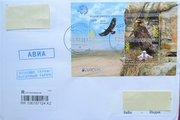 Kazakhstan  2019    Birds   Europa - CEPT  The Letter From Kazakhstan To India - 2019