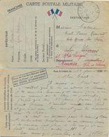 GUERRE 39-45 CP POSTE AUX ARMEES TàD 17-2-40 Pour ECOLE PIERRE RONSARD LE MANS Renvoyé Sur RENNES ILLE ET VILAINE - Postmark Collection (Covers)