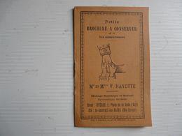 PETITE BROCHURE : Mr Et Mme HAYOTTE Masseurs - Massage Hygiènique Et Médical ( HYERES - ST GERVAIS LES BAINS) - Santé