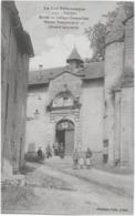 FIGEAC - ENTREE DU COLLEGE CHAMPOLLION - HOPITAL TEMPORAIRE No 51 - BELLE ANIMATION - VERS 1914 - Figeac