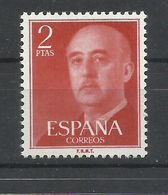 ESPAÑA  EDIFIL  1157 BR  (VARIEDAD DE COLOR  ROJO NARANJA)  MNH  ** - Variedades & Curiosidades