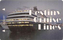 Trivista Plastics Sample Plastic Cruise Ship Card - Autres