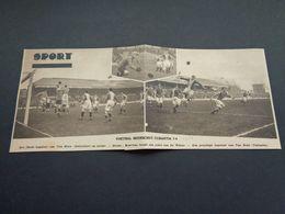 """Origineel Knipsel ( 4337 ) Uit Tijdschrift """" Zondagsvriend """" 1931 :  Voetbal  Beerschot - Tubantia ( Borgerhout ) - Vieux Papiers"""