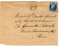 Chateau Thierry 02 Aisne Losange GC 926 Refait Type 17, Cérés 25c N°maury 60 III, Daté 17 Avril 1875 - Postmark Collection (Covers)