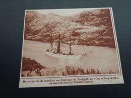 """Origineel Knipsel ( 4345 ) Uit Tijdschrift """" Ons Land """" 1928 : Expeditie Van Byrd Naar De Zuidpool """" City Of New - York"""" - Vieux Papiers"""