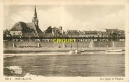 56 Port-Louis, Les Quais Et L'Eglise - Port Louis