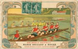 Publicité Marie Brizard, Série Les Sports, Le Canotage, Belle Carte Pas Courante Affranchie 1910 - Advertising