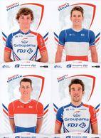 Cyclisme, 20 Cartes Groupama-FDJ 2018 - Ciclismo