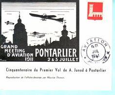 PONTARLIER Grand Meeting D'aviation 2 & 3 Juillet 1911 - Pontarlier