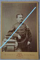 Photo Format Moyen ABL Officier Circa 1885 Belgische Leger Armée Belge Sabre Uniforme - Photos