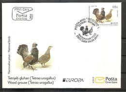 MONTENEGRO  2019,EUROPA CEPT,NATIONAL BIRDS,TETRAO UROGALLUS, FDC - 2019