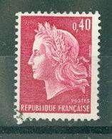 FRANCE - N° 1536Ba Oblitéré - Type Marianne De Cheffer (Deux Bandes Phosphorescentes) - 1967-70 Maríanne De Cheffer