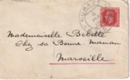 Mignonette  Grand TAD Kumasi (Gold Coast)  Du 4 Mai 1928 Sur Timbre  Rouge Issu D'un Entier Postal, Pour Marseille - Costa De Oro (...-1957)