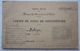 ABL Carnet Sous Officier ABL Bureau Recrutement AALST 1930-40 Centre Recrutement Armée Belge France 1940 Stampel CRAB - Vieux Papiers