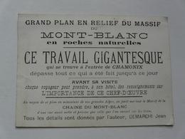VIEUX PAPIERS - PROGRAMME : Grand Plan En Relief Du Massif Du Mont Blanc - Programs