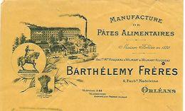 Traite 1921 / Photo Usine Cheminée / 45 ORLEANS / BARTHELEMY Frères / Manufacture De Pâtes Alimentaires - Lettres De Change
