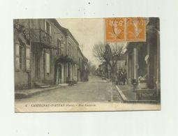 32 - CASTELNAU D'AUZAN  - Rue Centrale Animée Devanture Magasin Bon état - Autres Communes