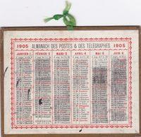 1905 ALMANACH DES POSTES ET DES TELEGRAPHES ,dimensions 12,5 X 10 Centimétres - Calendriers
